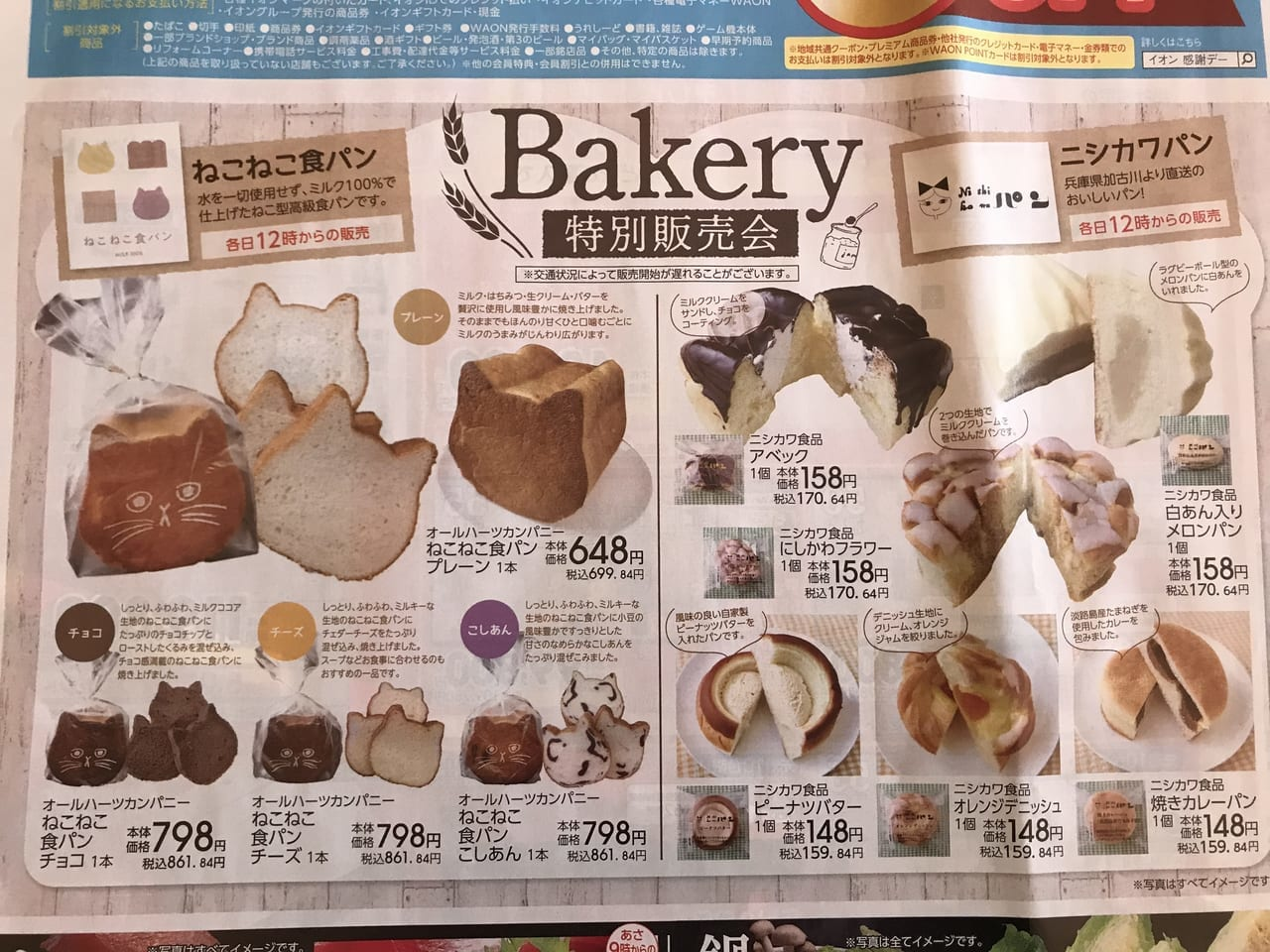 イオン大井店でねこねこ食パン販売